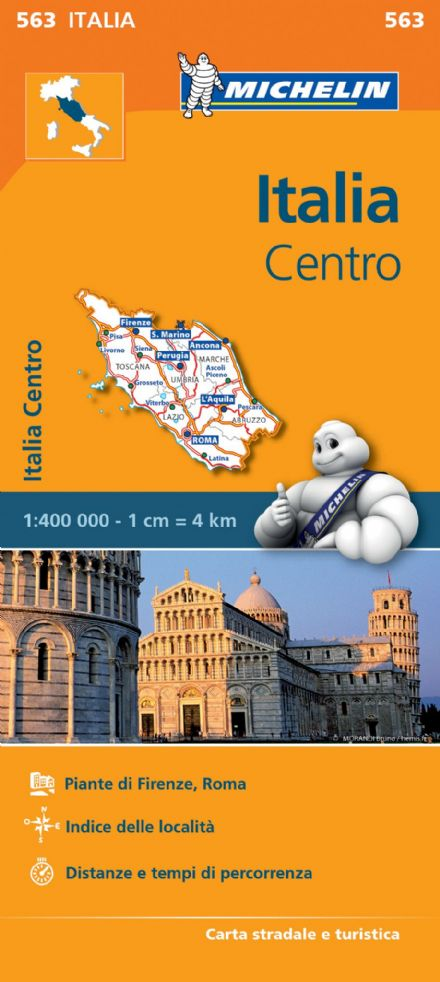 563 Italy Central - Michelin Regional Map